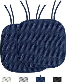 H.VERSAILTEX Memory Foam Chair Cushions for Dining...