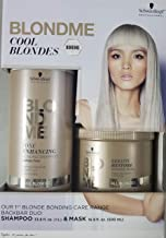 Professional BlondMe Cool Blondes Tone Enhancing Bonding Shampoo 1 Liter, With 16.9oz Mask, DUO!!
