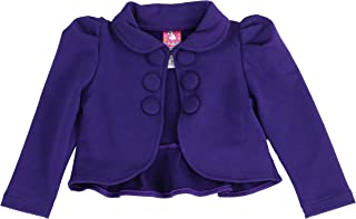 LELEFORKIDS Toddlers and Girls (2-7/8) French Terry Knit Ladonna Classic Bolero Crop-Jacket