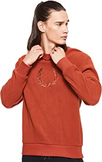 Fred Perry Mens Embroidered Fleece Sweat Sweatshirts