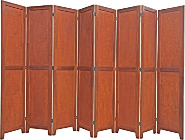 Urnporium 8 Panel Wooden Room Divider Partition Privacy Screen 2 Way Hinges