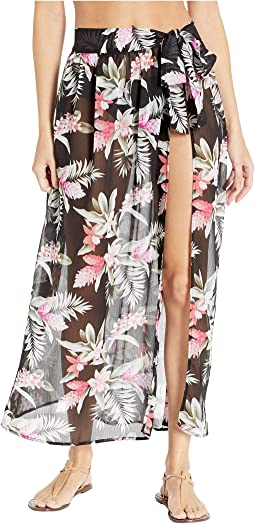Gingerflower Tie Sarong Skirt