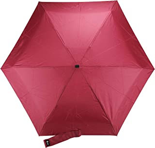 Travel Umbrella with Waterproof Case - Small and Compact for Backpack or Purse. Great Umbrella for Women, Men or Kids, Wine Red (Red) - VumosTravelUmbrella-WineRed