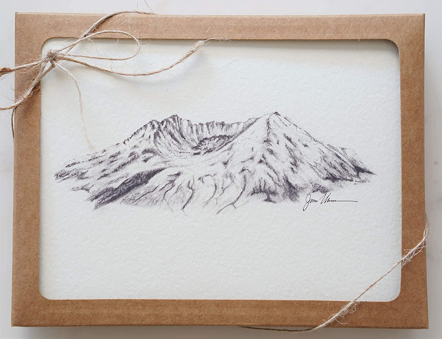 Mount Saint 67% OFF of fixed price Ranking TOP17 Helens Stationery Greeting Set Mountain