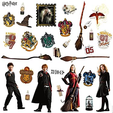 HARRY POTTER 30 BiG Wall Stickers RON HERMOINE New Room Decor Bedroom Decals