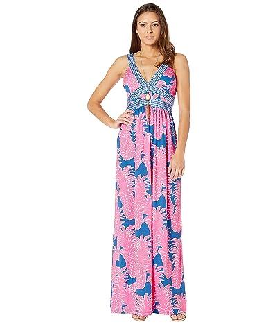 Lilly Pulitzer Taryn Maxi Dress (Blue Haven Little Flamenco) Women