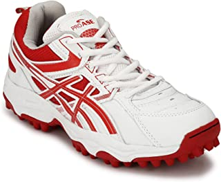 PRO ASE White Red Synthetic Cricket Shoes