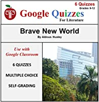 Google Forms Novel Study Quizzes For Brave New World | Self-Grading Multiple Choice Chapter Questions & Quizzes; Great...