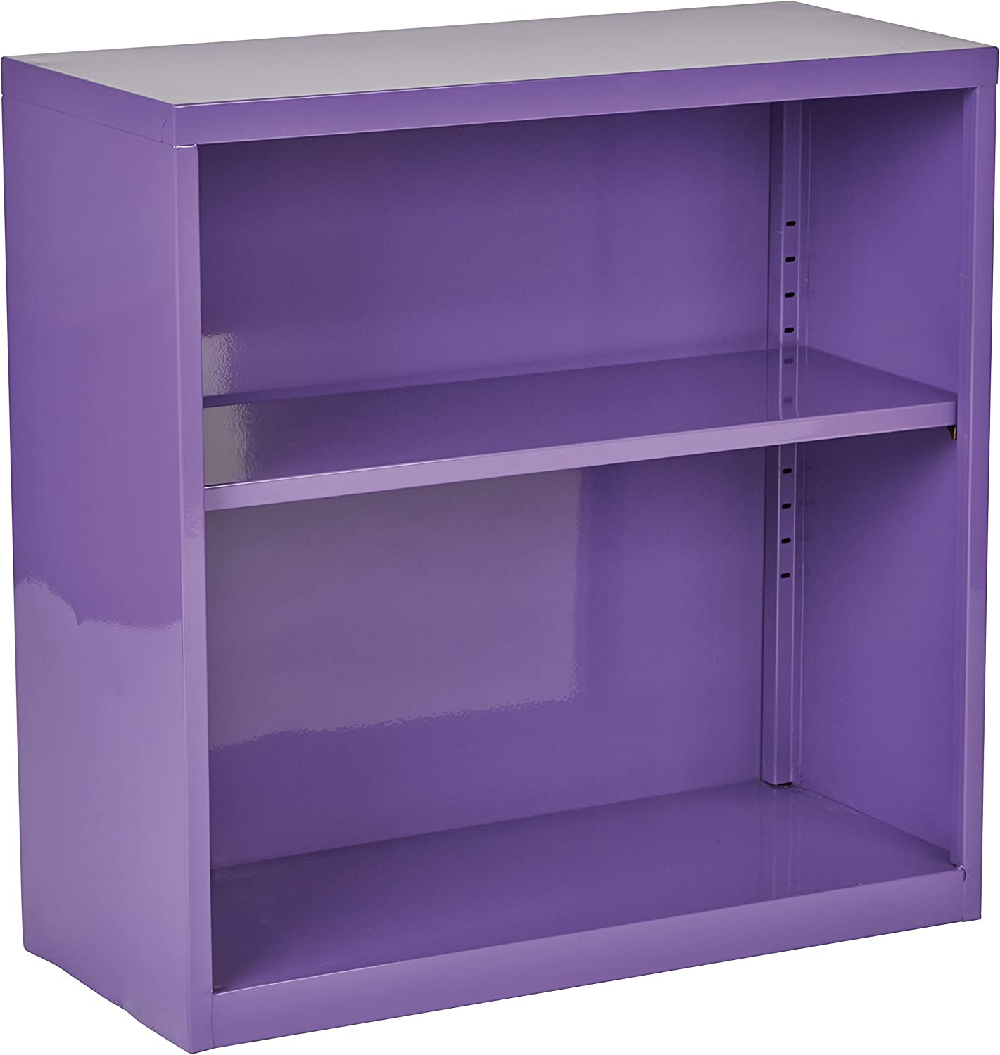 OSP Designs HPBC512 Metal Bookcase with 1 Adjustable Shelf, Purple Finish