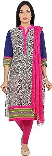 Rama Women's Cotton Printed Kurta, Legging and Dupatta Suit Set (Small)