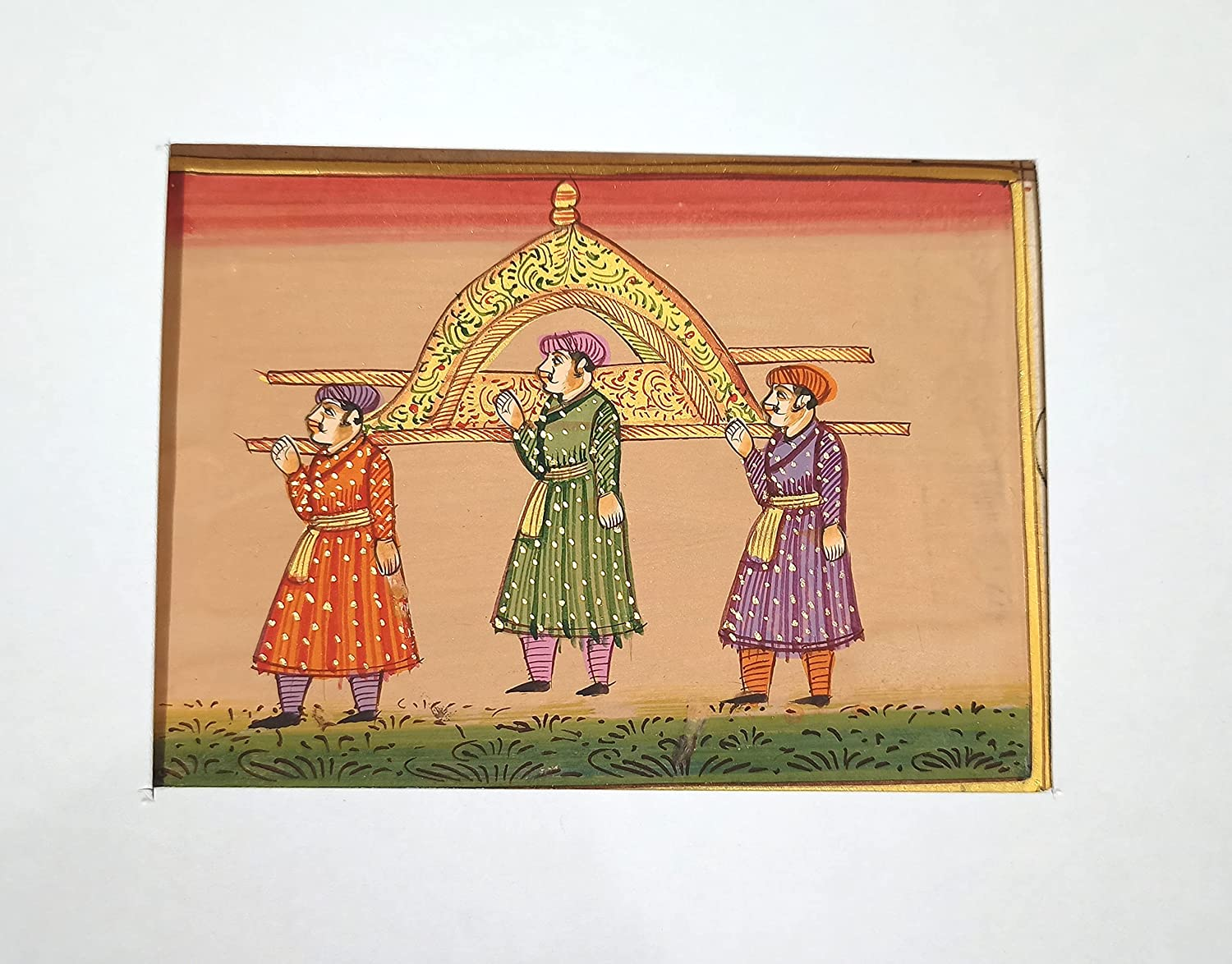 Indian Maharani Bagghi Painting Handmade Paper High order On Miniature Don't miss the campaign #829