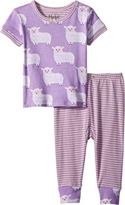 Counting Sheep Short Sleeve Mini Pajama Set (Infant)