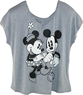 Camiseta de Mickey y Minnie Mouse para mujer talla grande