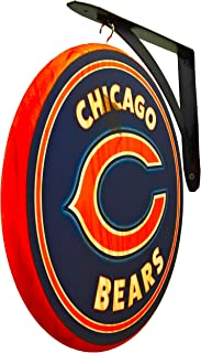 Chicago Bears Sign 12 inch Diameter - Double Sided Blade Sign Includes Metal Hanging Bracket