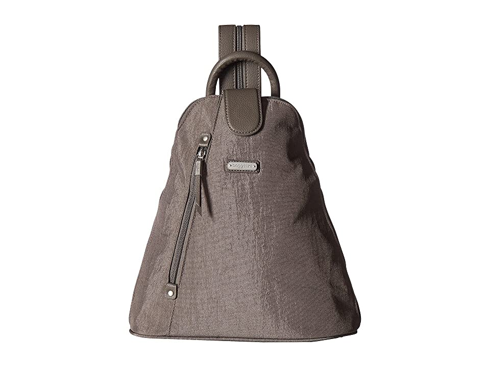 Baggallini Metro Backpack with RFID Phone Wristlet (Sterling Shimmer) Backpack Bags