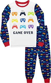 Harry Bear Pijamas de Manga Larga para niños Videojuegos Ajuste Ceñido