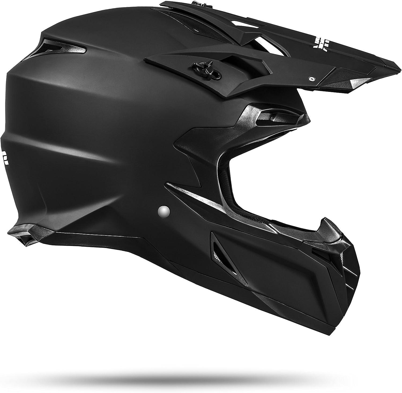 Ato Moto Mx Mexico Schwarz Matt Größe L 59 60cm Enduro Helm Mit Neuster Sicherheitsnorm Ece 2205 Auto