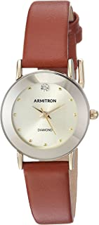 Women's 75/2447 Diamond-Accented Leather Strap Watch
