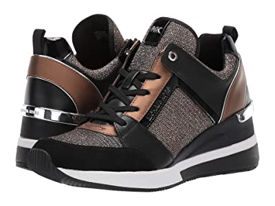 MICHAEL Michael Kors Georgie Trainer (Black/Bronze/Silver) Women
