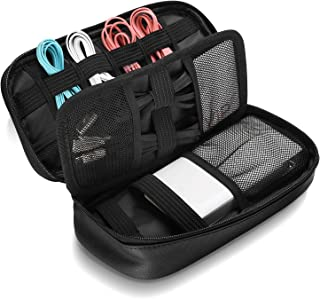 ProCase Travel Electronics Cable Organizer Bag, Double Layer Thicken Portable Gadget Accessories Storage Carrying Case Pou...