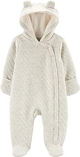 Carters Baby Girls Newborn-9M Hooded Quilted Pram Sleep /& Play