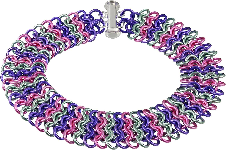 Weave Elegant Got Maille European 4-in-1 Kit Chain Max 49% OFF Bracelet Lila