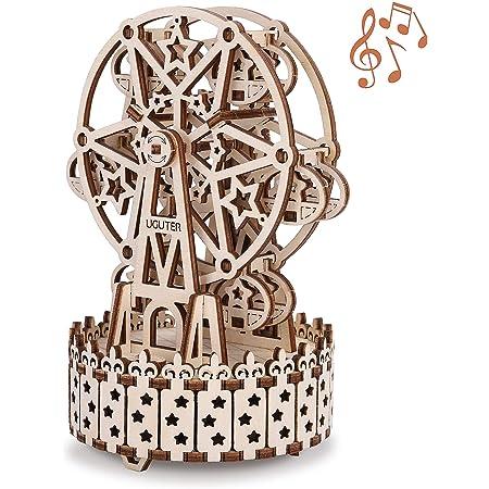 GuDoQi Puzzle 3D Legno, Modellini Ruota Panoramica con Musica da Costruire, Costruzioni Legno Meccaniche, Kit Fai da Te Creativo per Modellismo, Idee Regalo Uomo e Donna, Passatempi per Adulti