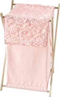 Sweet Jojo Designs Pink Floral Rose Baby Kid Clothes Laundry Hamper - Solid Light Blush Flower Luxurious Elegant Princess ...
