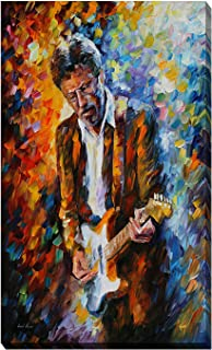 Picture Perfect International Giclee Stretched Wall Art by Leonid Afremov Eric Clapton Artists-Canvas, 24