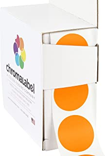 ChromaLabel 1 inch Color-Code Dot Labels   1,000/Dispenser Box (Orange)
