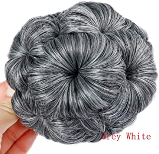 Lover High Temperature Synthetic Fiber Curly Chignon Bun Hairpiece Elastic Fake Classic Hair Extensions for Black