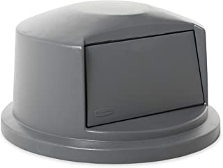 Rubbermaid Commercial Heavy-Duty BRUTE Dome Swing Top Door Lid for 32 Gallon Waste/Utility Containers, Plastic, Gray (FG263788GRAY) (Renewed)