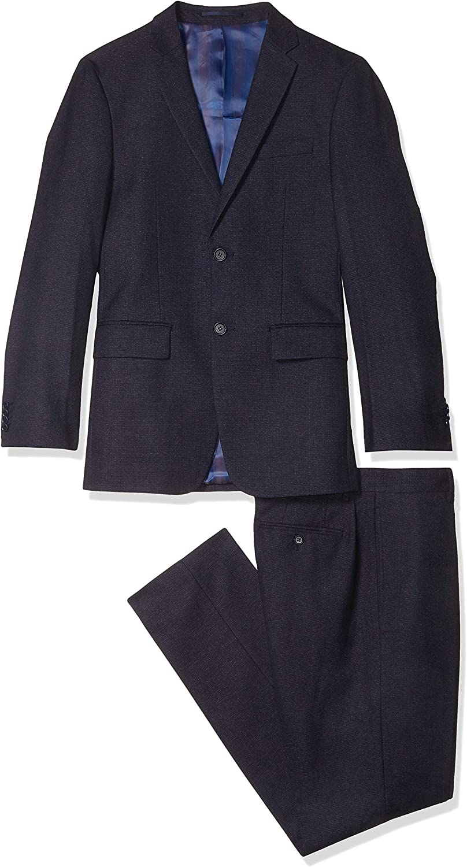 Kitonet Men's 2-Piece Dotted Slim Fit Suit, Navy, 40R