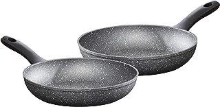 Prochef - Juego de sartenes de aluminio forjado con tapa