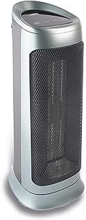 HB CTH2001M Calefactor Cerámico, 2000 W, Polímero Termoresistente, 2 Velocidades, Plateado
