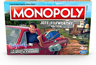 Monopoly Jeff Foxworthy Edition Board Game Featuring Redneck Humor, Fast-Dealing Property Trading Game for 2-6 Players, Ag...