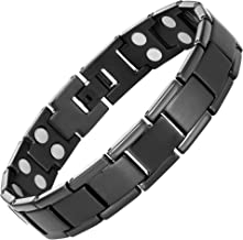Willis Judd Mens Double Strength Titanium Magnetic Therapy Bracelet for Arthritis Pain Relief