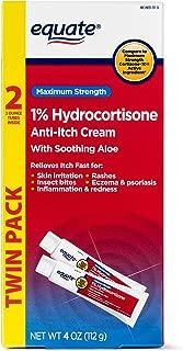 Equate TWINPACK 1% Hydrocortisone Anti-itch Cream Compare to Maximum Strength Cortisone