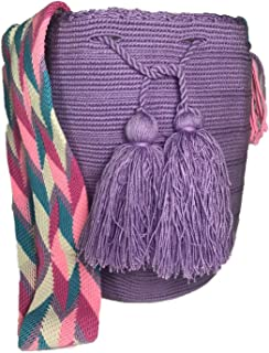Wayuu Mochila Shoulder Large Bag - 100% Tribe Crochet Hand Crafted in Colombia -Cotton
