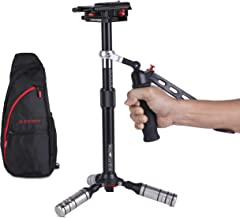 IFOOTAGE Aluminum Handheld Camera Stabilizer 20 inches Video Steadycam Stabilizer with 1/4 inch Screw Quick Release Plate Compatible for DSLR Cameras Camcorders, Up Load 6.6 lbs