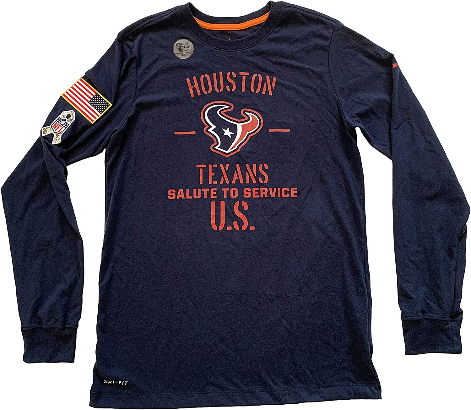 Sm-5X Heather Navy T-Shirt Horns Up Drink On Smack Apparel Houston Football Fans