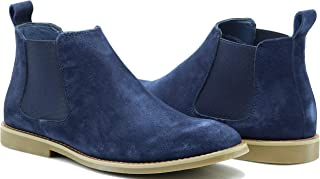 CO01 Men's Chelsea Boots Dress Fashion Slip On Suede Leather Ankle Boots