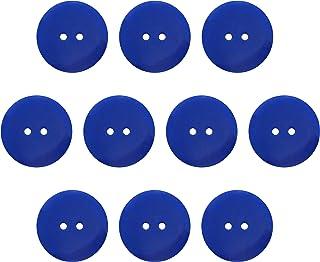 Seeking ROAM Buttons 2 Hole, 1 Inch, Resin, 10 Pieces, Blue (Blue)