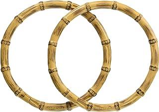 ハマナカ 持ち手 竹型ハンドル 丸型 中 H210-623-1