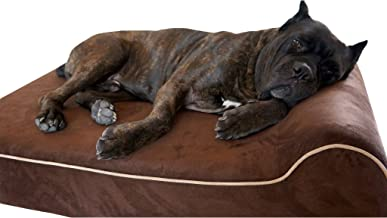 Bully beds Orthopedic Memory Foam Dog Bed - Waterproof Bolster Beds for Large and Extra Large Dogs - Durable Pet Bed for Big Dogs