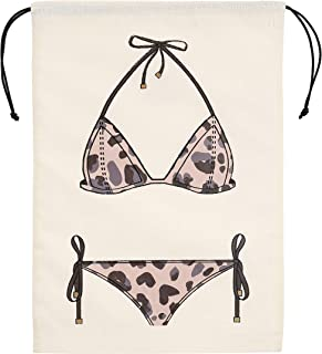 The Meshok Women's Swimsuit Leopard Print Waterproof Luggage Packing/Travel Organizer Bag