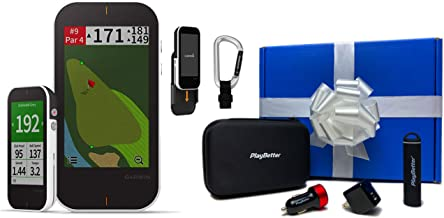 Garmin Approach G80 Premium Golf GPS Gift Box Bundle | +PlayBetter Portable Charger, PlayBetter USB Car/Wall Adapters & Protective Hard Case | Launch Monitor Radar