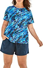 Swimsuits For All Women's Plus Size The Swim Tee Rash Guard