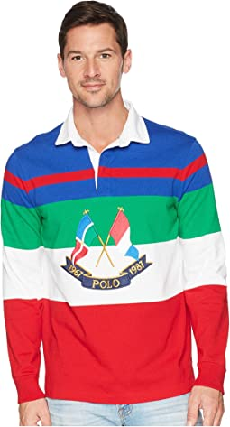CP-93 Yarn-Dye Striped Long Sleeve Polo