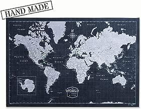 diy world map push pin